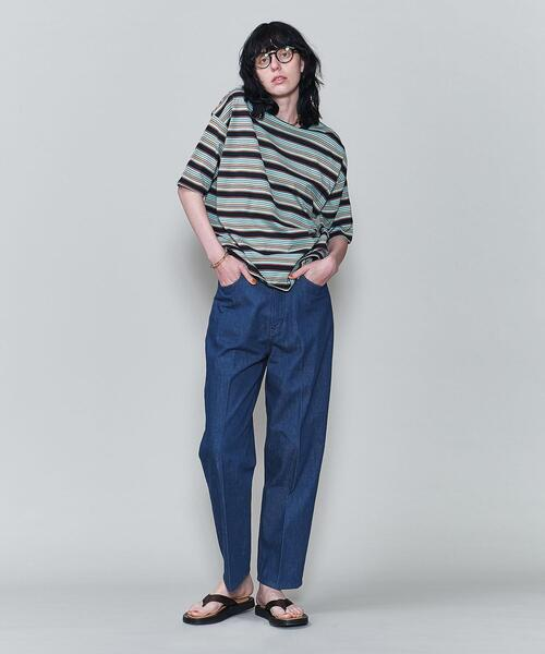 <6(ROKU)>MULTI BORDER T-SHIRT/Tシャツ
