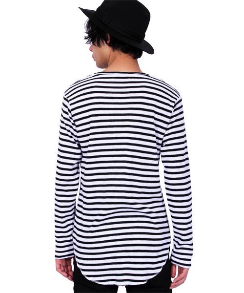 切替 半袖Tシャツ サーマル ワッフル アンサンブル