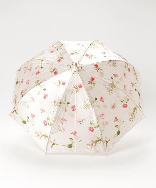 LANVIN collection(ランバン コレクション)の「傘 【ロゴリボン ボタニカルフラワー】(長傘)」|詳細画像