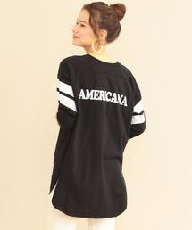 AMERICANA(アメリカーナ)の【追加予約】【別注】<AMERICANA>∴フットボールTシャツ(Tシャツ/カットソー)