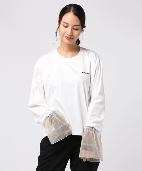 【爆売りセール開催中!】 FRILLSLEEVE NON T-SHIRT(Tシャツ/カットソー)|NON TOKYO(ノントーキョー)のファッション通販, e-cargoodsミューザー:50c7d14d --- arguciaweb.com