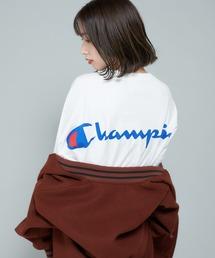 Champion(チャンピオン)の【Champion/チャンピオン】ドロップテールビッグシルエットTシャツワンピース/バックプリント(ワンピース)
