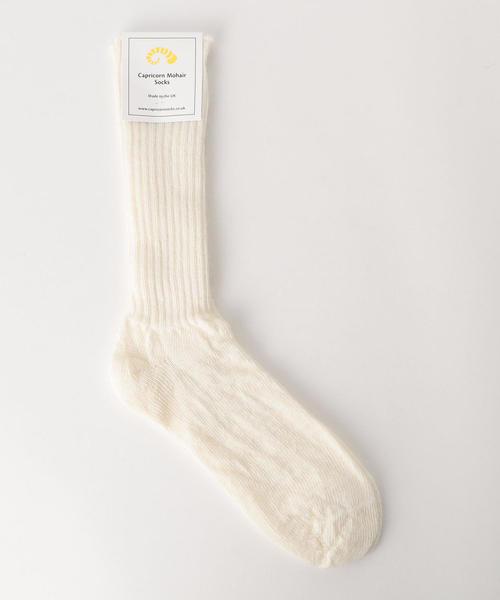 <Capricorn Mohair Socks>モヘヤ混ソックス ◆