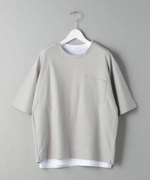 BY レイヤード インレイ Tシャツ&ノースリーブ