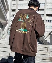シルケットライク天竺 オーバーサイズイラストプリントL/Sカットソー/プリントロンT/Tokyo Mood/Best Friend Forever/I can always/Keep your Hairon/American Cocker Spaniel/French Bulldogその他15