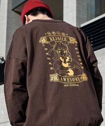シルケットライク天竺 オーバーサイズイラストプリントL/Sカットソー/プリントロンT/Tokyo Mood/Best Friend Forever/I can always/Keep your Hairon/American Cocker Spaniel/French Bulldogその他19