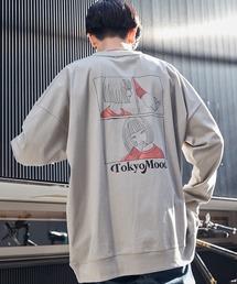 シルケットライク天竺 オーバーサイズイラストプリントL/Sカットソー/プリントロンT/Tokyo Mood/Best Friend Forever/I can always/Keep your Hairon/American Cocker Spaniel/French Bulldogその他21
