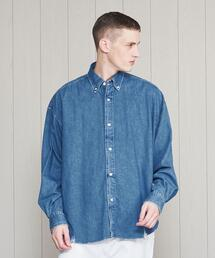 <H>BITING DENIM BIG BD SHIRT/シャツ