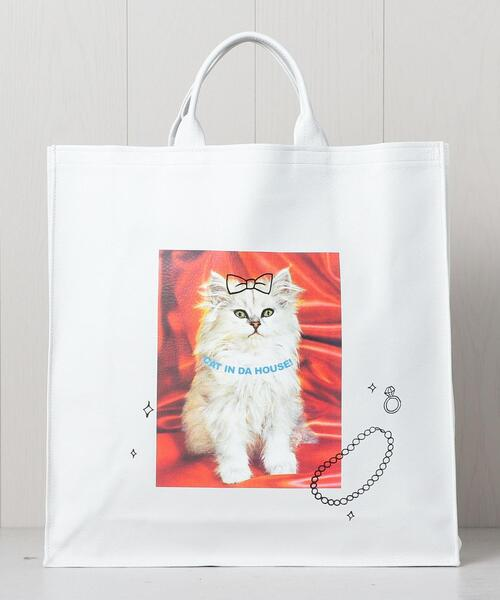 <CAT IN DA HOUSE!>BIG CAT TOTE BAG/バッグ