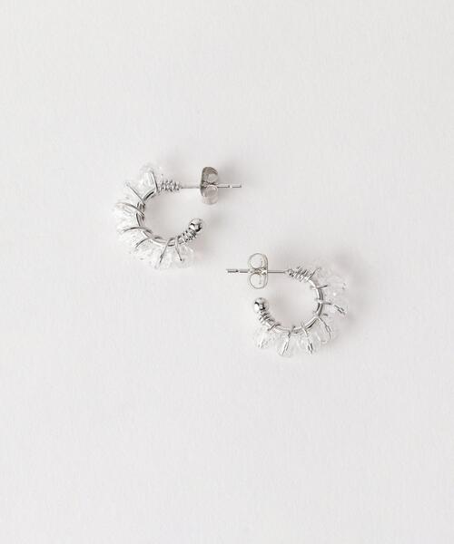 BY クリアガラス ミニピアス