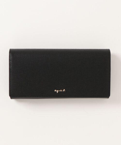 agnes b.(アニエスベー)の「HW11-09 ロングウォレット(財布)」|ブラック