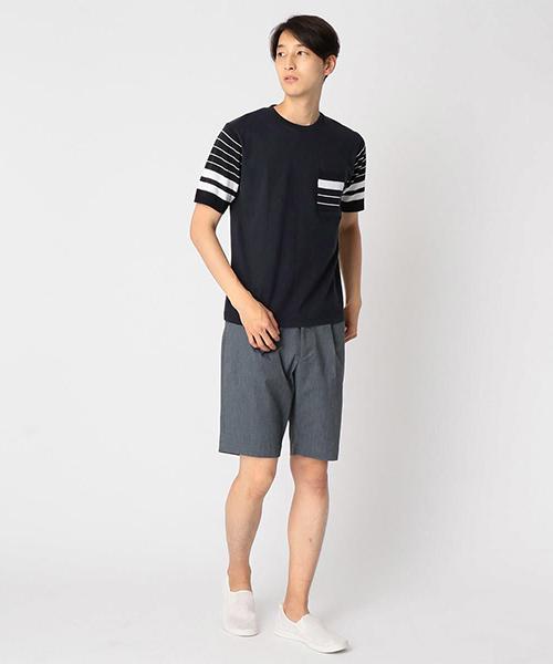 ニット ドッキング Tシャツ