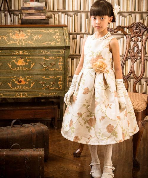 bfe8f33f90894 Catherine Cottage(キャサリンコテージ)のフローラルジャガードリッチドレス(ドレス)