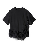 LE CIEL BLEU(ルシェルブルー)の「Asymmetric Feather TOPS(Tシャツ・カットソー)」