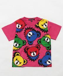 HYS BEAR PANEL pt Tシャツ【XS/S/M】ピンク