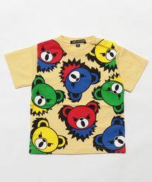 HYS BEAR PANEL pt Tシャツ【XS/S/M】イエロー
