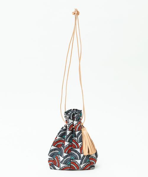 collex(コレックス)の「【MORMYRUS】パターン巾着(トートバッグ)」|ホワイト