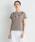 LANVIN en Bleu(ランバンオンブルー)の「ネックレスプリントTEE(Tシャツ/カットソー)」|キャメル