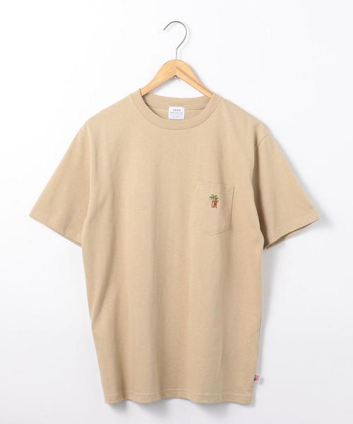 USAコットンベア刺繍ポケットTシャツ