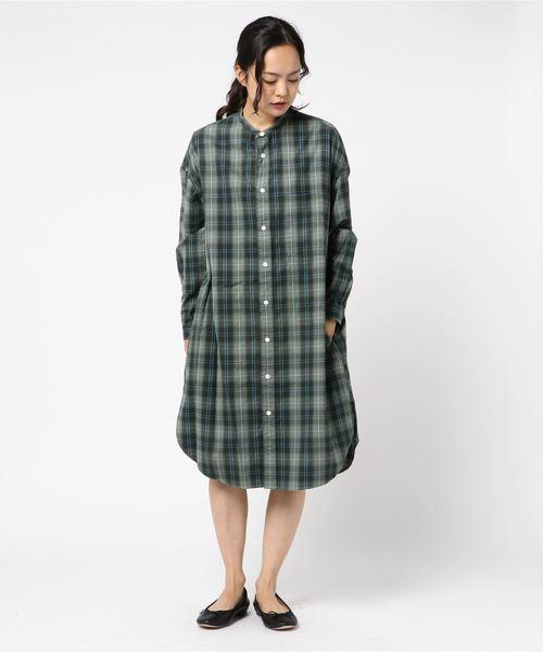 流行に  GYMPHLEX// 起毛 チェック バンドカラー 起毛 シャツワンピース <WOMEN>(ワンピース)|GYMPHLEX(ジムフレックス)のファッション通販, ツグムラ:06edd8fb --- 5613dcaibao.eu.org