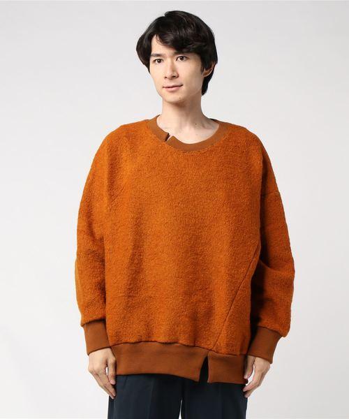【日本産】 Robes&Confections/ローブス&コンフェクションズ/New Zealand Wool Wool Sheep Pile Sheep Swirl Pull Pull Over/BRC-T01-112(ニット/セーター) ROBES&CONFECTIONS(ローブスコンフェクションズ)のファッション通販, サンポクマチ:99318123 --- pyme.pe