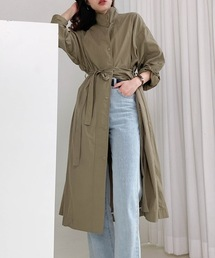 【chuclla】Stand collar spring coat  chw1073カーキ