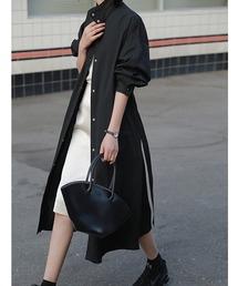 【chuclla】Stand collar spring coat  chw1073ブラック