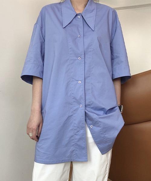 【chuclla】【2021/SS】Half sleeve cotton shirt chw1475