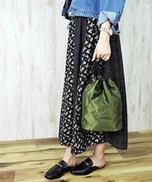 minia(ミニア)のリバーシブル巾着バッグ  [ minia ] ≪2019AW新色アニマル登場≫ 【 雑誌掲載 / mina 】(トートバッグ)