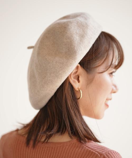 rps(アールピーエス)の「ウールベレー帽(ハンチング/ベレー帽)」|ベージュ