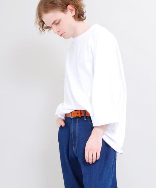スーパービッグシルエットカットソー long sleeve cotton 100%