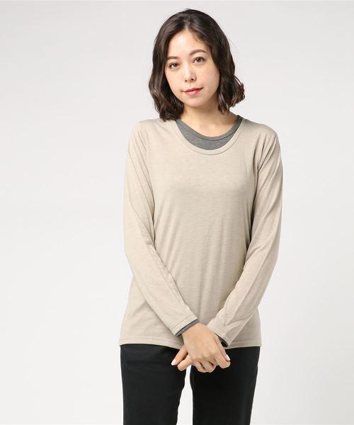 【6】フェクレイヤード長袖Tシャツ