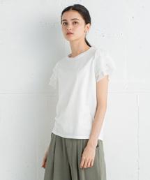 LANVIN en Bleu(ランバンオンブルー)のフリルスリーブカットソー(Tシャツ/カットソー)