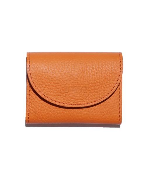 UNIVERSAL OVERALL(ユニバーサルオーバーオール)の「UNIVERSAL OVERALL/ユニバーサルオーバーオール シボレザーダブルフラップ 財布(財布)」|オレンジ
