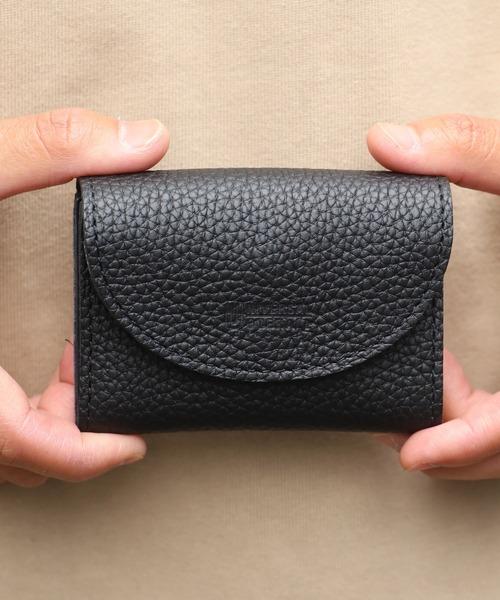 UNIVERSAL OVERALL(ユニバーサルオーバーオール)の「UNIVERSAL OVERALL/ユニバーサルオーバーオール シボレザーダブルフラップ 財布(財布)」|ブラック