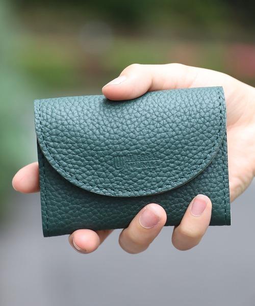 UNIVERSAL OVERALL(ユニバーサルオーバーオール)の「UNIVERSAL OVERALL/ユニバーサルオーバーオール シボレザーダブルフラップ 財布(財布)」|詳細画像