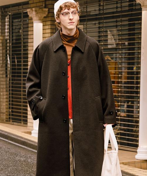 オーバーサイズ ルーズスリーブ ロングバルマカンコート/ルーズバルカラーコート(EMMA CLOTHES)