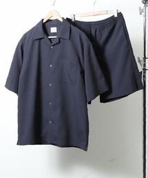 【WEB限定】UVカットシアサッカーオープンカラーシャツサマーセットアップ(セット商品)