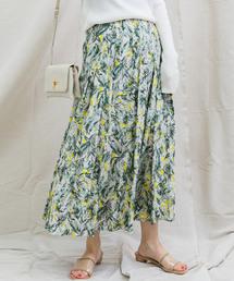 CAPRICIEUX LE'MAGE(カプリシューレマージュ)のフラワータックスカート(スカート)