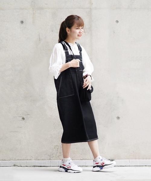 WEARISTA たかあしあかり × INTER FACTORY ぴったりサイズジャンパースカート