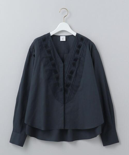 <6(ROKU)>V NECK TUCK SHIRT/シャツ