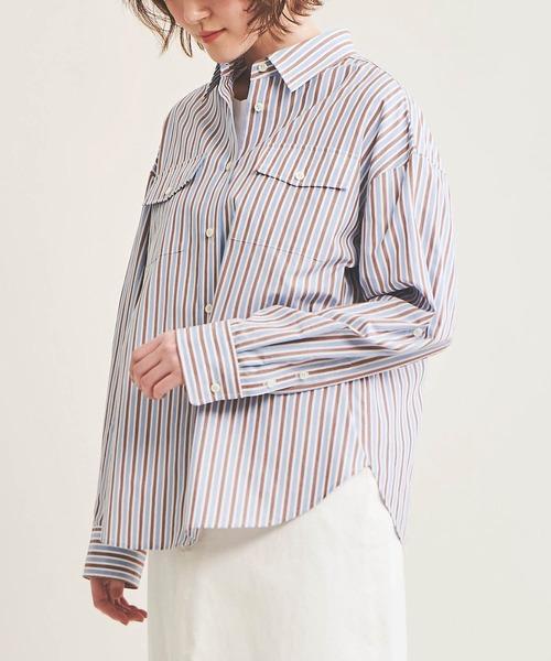 The Virgnia(ザ ヴァージニア)の「ドロップショルダーコットンシャツ(シャツ/ブラウス)」|詳細画像