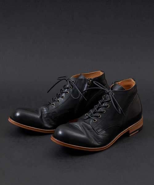 Chukka Boots With Side Zip Padrone Museum(ブーツ)|padrone