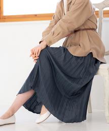 GLOBAL WORK(グローバルワーク)のシャイニーサテンプリーツスカート/828928(スカート)