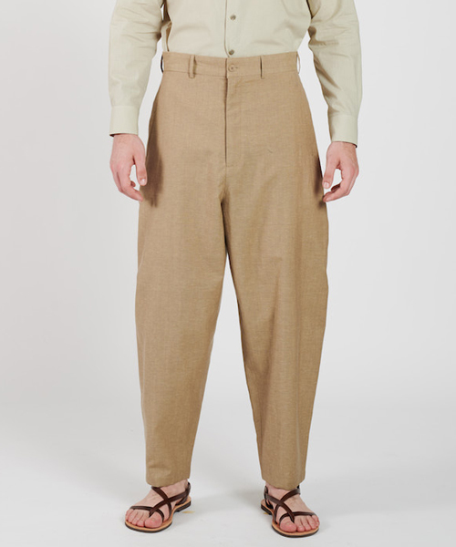 【HOUSE OF THE VERY ISLAND'S】 THIGH WIDE PANTS / SAND