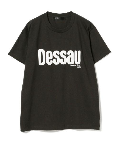 TOKYO CULTUART by BEAMS(トウキョウカルチャートバイビームス)の「ANYWHERE.BLUE / Dessau Tシャツ(Tシャツ/カットソー)」|ブラック