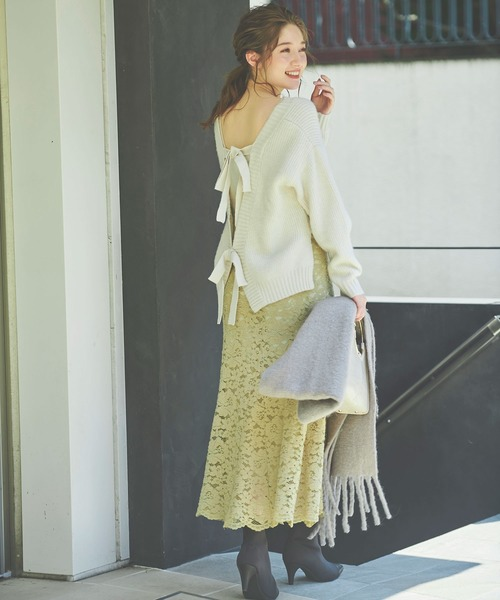 Noela(ノエラ)の「ソフトマーメイドレーススカート(スカート)」|詳細画像