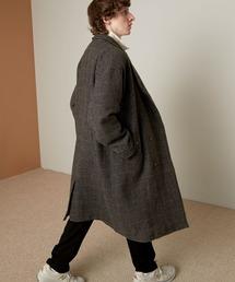ビーバーメルトンロングチェスターコート2019WINTER(EMMA CLOTHES)グレー系その他