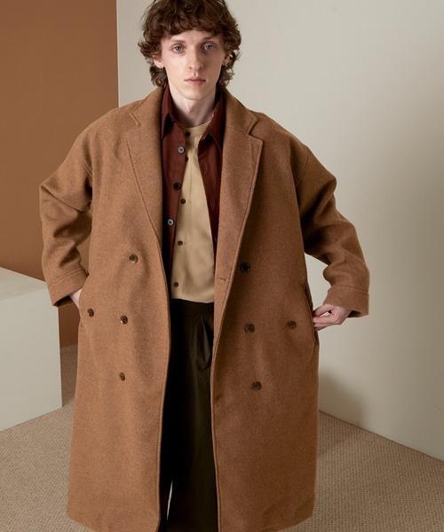 ビーバーメルトン オーバーサイズ ロングダブルチェスターコート EMMA CLOTHES