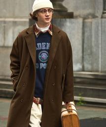 ビーバーメルトンロングチェスターコート2019WINTER(EMMA CLOTHES)ブラウン